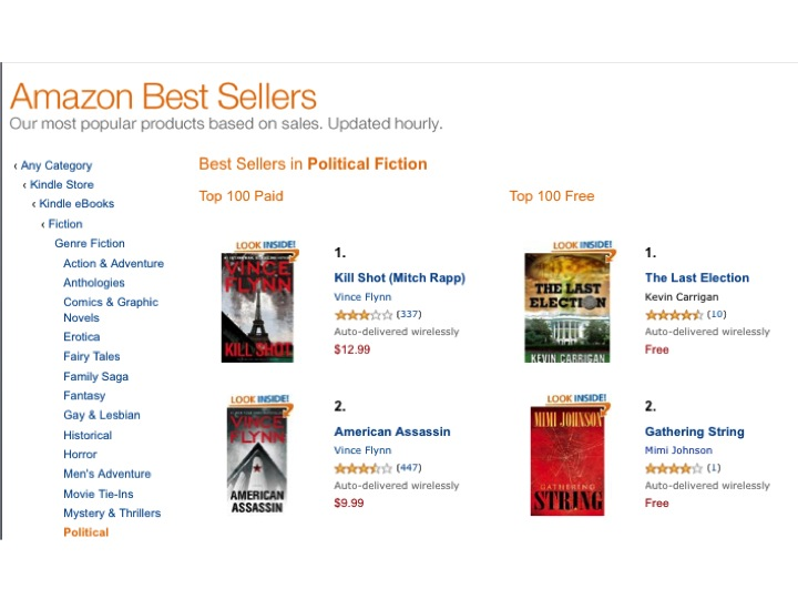 Amazon political fiction best sellers